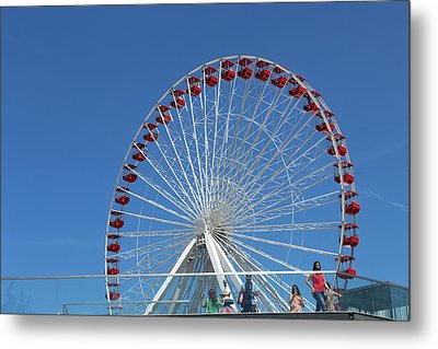 Navy Pier Ferris Wheel Metal Print