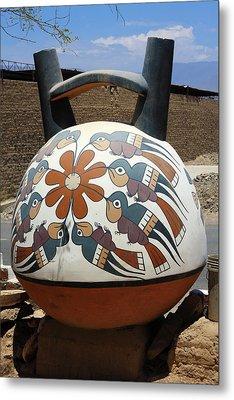 Nazca Ceramics Peru Metal Print