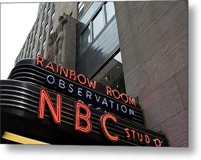 Nbc Studio Rainbow Room Sign Metal Print by Lorraine Devon Wilke