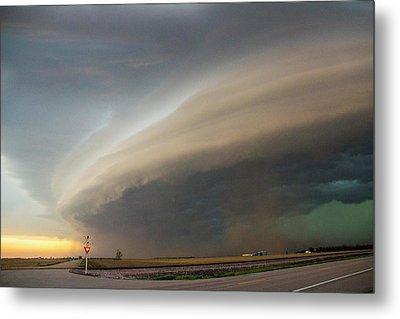 Nebraska Thunderstorm Eye Candy 026 Metal Print