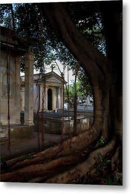 Necropolis Cristobal Colon Havana Cuba Cemetery Metal Print by Charles Harden