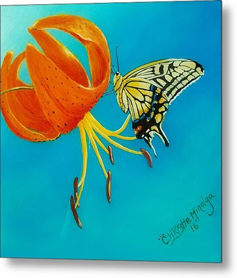 Metal Print featuring the painting Nectar  by Christie Minalga