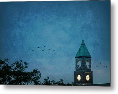 Metal Print featuring the photograph Neenah Clocktower by Joel Witmeyer