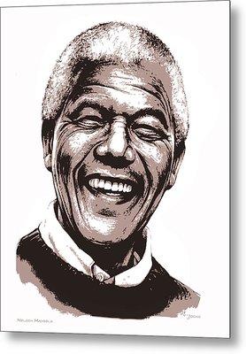 Nelson Mandela Metal Print by Greg Joens