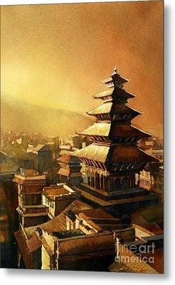 Nepal Temple Metal Print