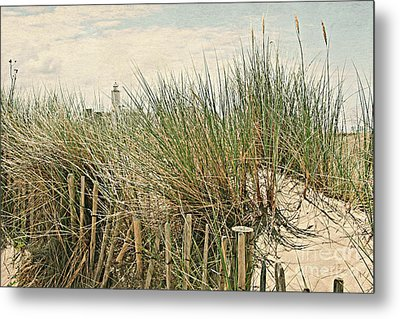 Netherlands - Dunes And Lighthouse Metal Print