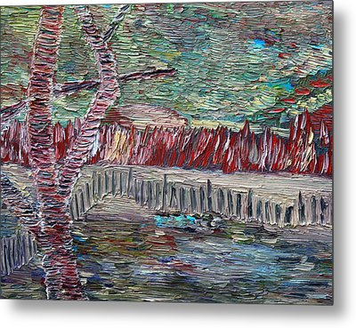 Metal Print featuring the painting Infinite Hope by Vadim Levin