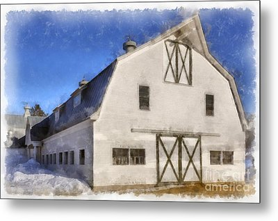 New England Horse Barn South Woodstock Vermont Metal Print by Edward Fielding