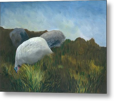 New Guinea Fowl Metal Print
