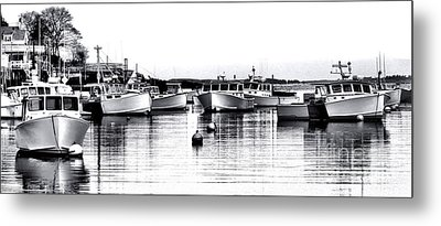 New Harbor Impression Metal Print by Olivier Le Queinec