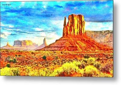 New Mexico Beautiful Desert - Da Metal Print