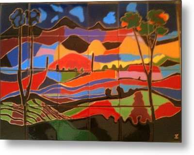 New Mexico Landscape Metal Print by Yana Yatsyk
