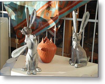 New Mexico Rabbits Metal Print by Rob Hans
