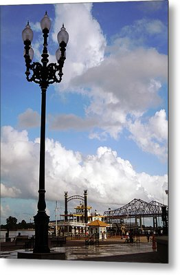 New Orleans Riverwalk Metal Print