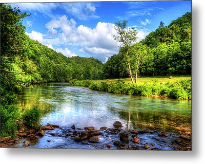 New River Summer Metal Print