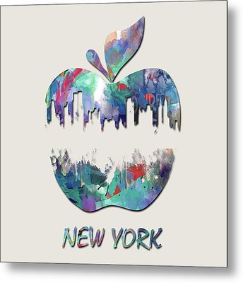 new York apple  Metal Print by Mark Ashkenazi