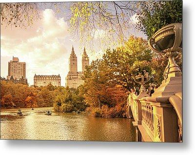 New York City Autumn Landscape Metal Print by Vivienne Gucwa