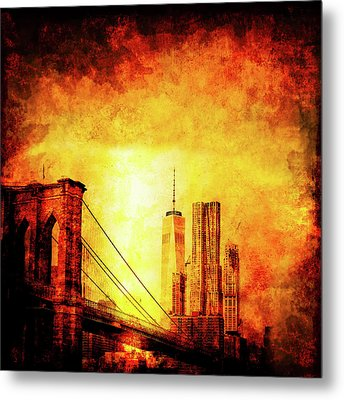 New York City Metal Print by Ractapopulous