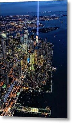 New York City Remembers 9-11 Metal Print