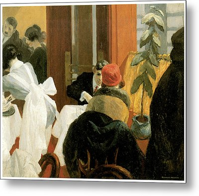New York Restaurant Metal Print by Edward Hopper
