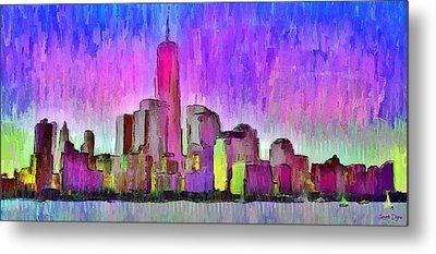 New York Skyline 7 - Pa Metal Print by Leonardo Digenio