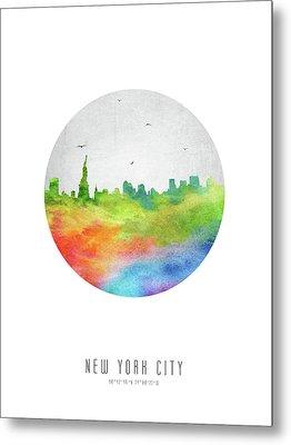 New York Skyline Usnyny20 Metal Print