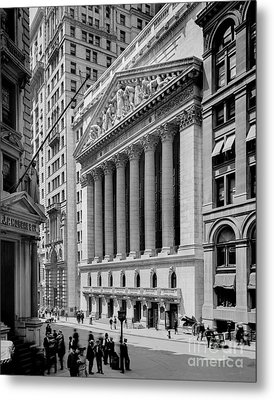 New York Stock Exchange Circa 1904 Metal Print