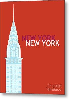 New York Vertical Scene - Chrysler Building Metal Print