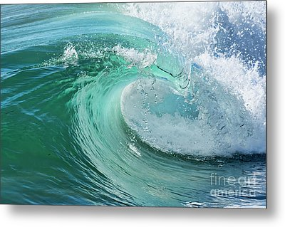 Metal Print featuring the photograph Newport Beach Wave Curl by Eddie Yerkish