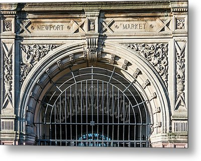 Newport Market Entrance Metal Print by Steve Purnell
