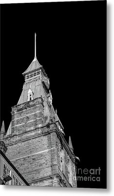 Newport Market Tower Mono Metal Print by Steve Purnell