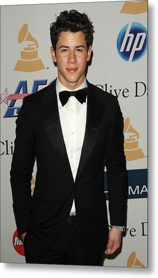 Nick Jonas In Attendance For Clive Metal Print by Everett