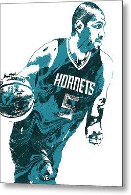 Nicolas Batum Charlotte Hornets Pixel Art 3 Metal Print by Joe Hamilton
