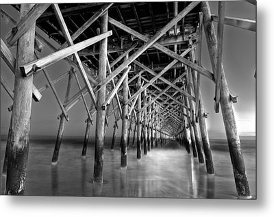 Night At The Pier  Metal Print by Drew Castelhano