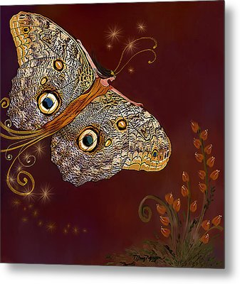 Night Butterfly  Metal Print by Thanh Thuy Nguyen