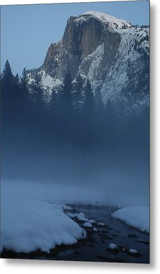 Metal Print featuring the photograph Night Falls Upon Half Dome At Yosemite National Park by Jetson Nguyen