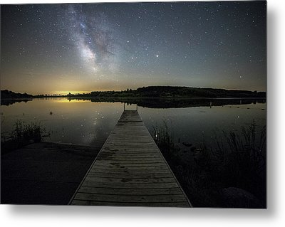 Metal Print featuring the photograph Night On The Dock by Aaron J Groen
