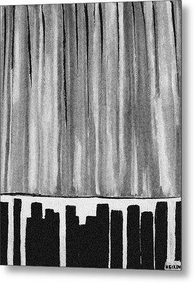 Night Time Downtown Metal Print by Marsha Heiken