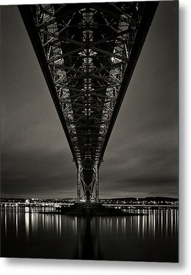 Night View Of Forth Road Bridge Metal Print by Mark Voce Photography