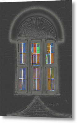 Metal Print featuring the photograph Night Window by Larry Bishop