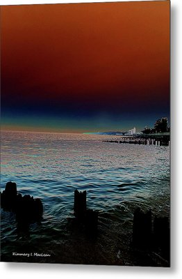Night Winds And Waves Metal Print