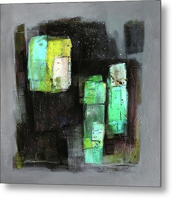 Texture Of Night Painting Metal Print by Behzad Sohrabi