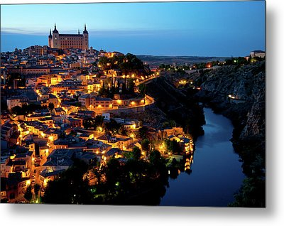 Nightfall Over Toledo Metal Print by Harry Spitz