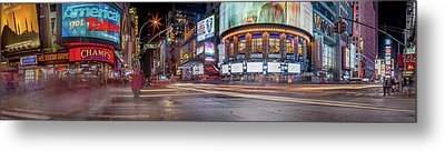 Metal Print featuring the photograph Nights On Broadway by Az Jackson