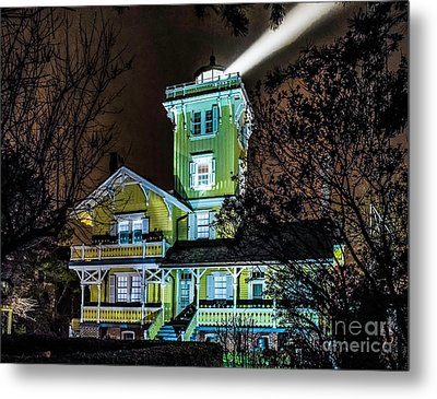 Metal Print featuring the photograph Nighttime Fog At Hereford Inlet by Nick Zelinsky