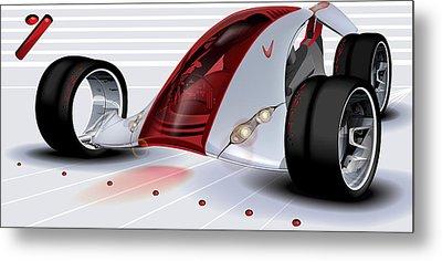 Nike Concept Car Ai Metal Print by Brian Gibbs