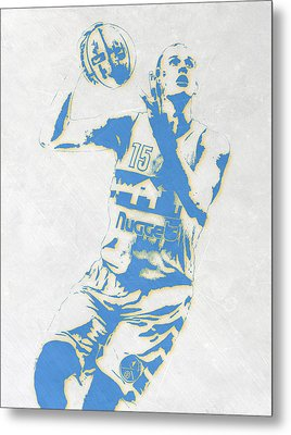 Nikola Jokic Denver Nuggets Pixel Art Metal Print
