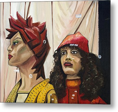 Metal Print featuring the painting Nina And Star by Patricia Arroyo
