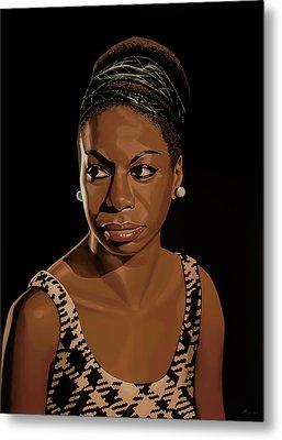 Nina Simone Painting 2 Metal Print