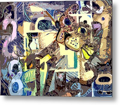 Nine Lives Of The Cat Metal Print by Mindy Newman